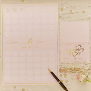 Pastel Perfection - Heart Guest Book A3