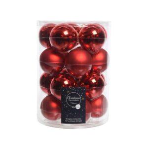 """Kerstballen glas """"christmas red"""""""