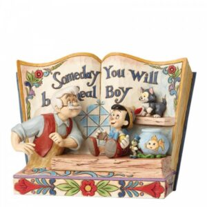Someday You Will Be a Real Boy - Pinocchio Storybook Figurine