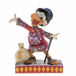 Treasure Seeking Tycoon (Scrooge with Money Bag Figurine)