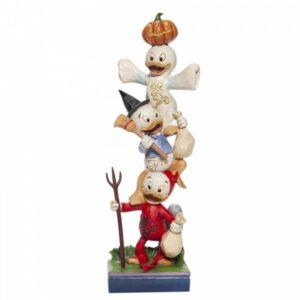 Teetering Trick-or-Treaters (Stacked Huey, Dewey & Louie Figurine)