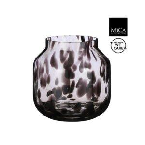 Pantera vaas glas bruin H26.5XD26Cm