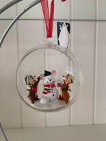 """Kerstbal Knabbel & Babbel """"Mickey snowmen"""""""