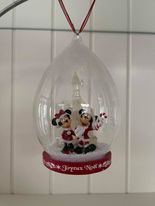 """Kerstbal Mickey & Minnie Mouse """"Caslte Light up)"""