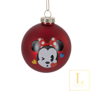 Kerstbal Minnie Mouse Glas