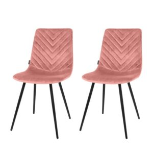 Dining chair 1set/2 Lynn pink 83cm