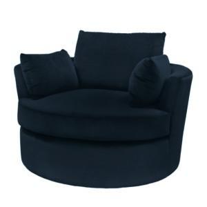 Armchair Phoebe black 112cm