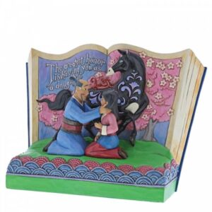 The Greatest Honor is Having You as a Daughter - Mulan Storybook Figurine