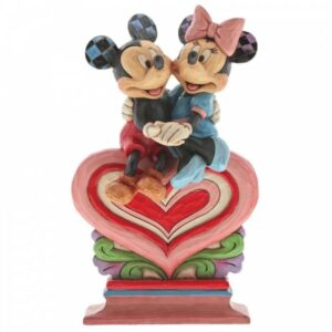 Heart To Heart - Mickey Mouse & Minnie Mouse on Heart Figurine