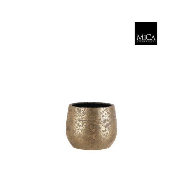 Clemente pot rond grond goud H20xD25,5cm